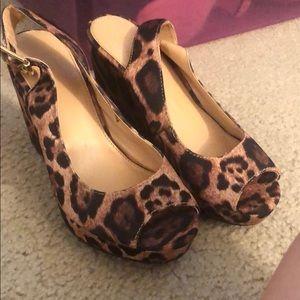 Cheetah wedges never worn